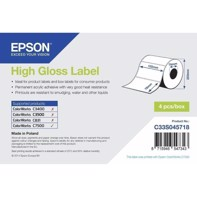 High Gloss Label - rulle med utstansade etiketter i måtten 102 mm x 76 mm (1570 labels)