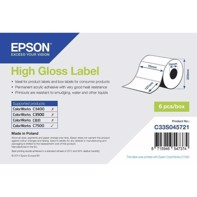 High Gloss Label - rulle med utstansade etiketter i måtten 76 mm x 127 mm (960 labels)