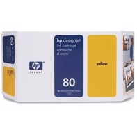 HP 80 - 350 ml Yellow bläckpatron | C4848A