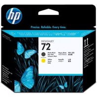 HP 72 Matte Black and Yellow Skrivhuvud | C9384A