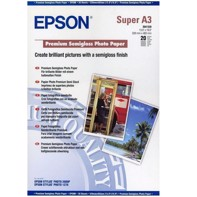 Epson Premium Semigloss Photo Paper 251 g, A3 - 20 ark | C13S041334