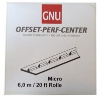 "Mikroperf  Perforeringsband 50"", center, papper - 6 m rulle"